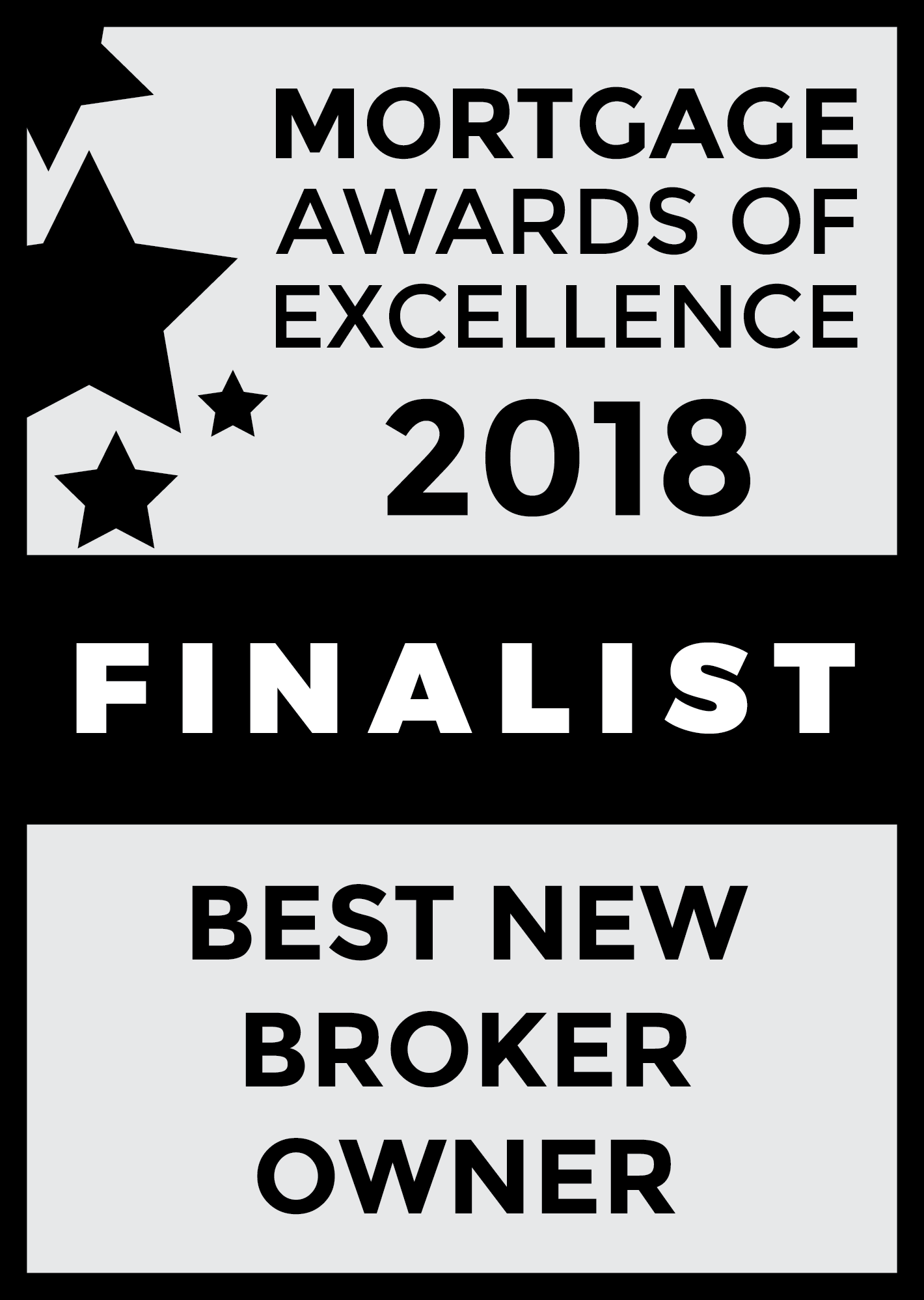 2018 Mortgage Awards of Excellence Best New Broker Owner Finalist